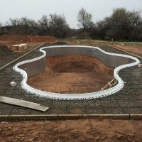 freefom pool, pool construction