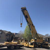 crane, pool build