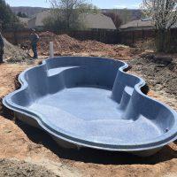 fiberglass pool blue