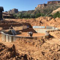 desert pool construction