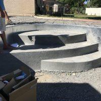 three step stairs, freeform