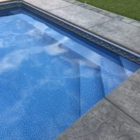 bench in pool