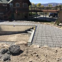 pool, decking, construction
