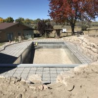 pool, decking construction