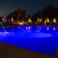 blue pool water lights