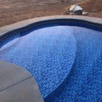 oversized step, lounge step, sunbathe pool step