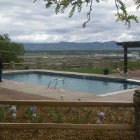 rectangle pool mountain views