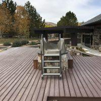 pool slide stairs