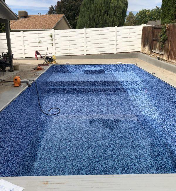 vinyl lined, pool, latham